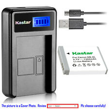 Kastar Battery LCD Charger for Canon NB-6L NB-6LH & Canon PowerShot SD3500 IS