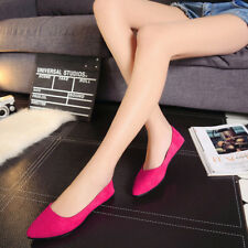 Women Ballet Flats Ballerina Pointed Toe Casual Slip On Loafers Ladies Flat Shoe