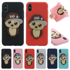 3D Owl Cute Soft Silicone Phone Case Cover Skin Shell For iPhone X 8 7 6 Plus