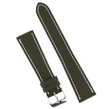 B & R Bands 18mm Brown Textured Calf Leather Watch Band Strap