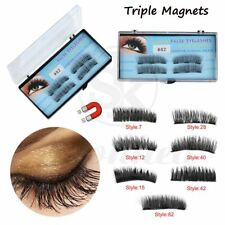 Magnetic Triple Eyelashes 4Pcs Reusable Full Eye False Eye Lashes Extension Nice