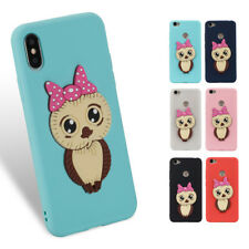 3D Girl Owl Cute Soft Silicone Phone Case Cover Skin Shell For MOTO G5  E4  C