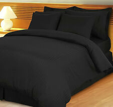 New Collection 1000TC Egyptian Cotton Duvet Collection Select Size & Item--Black