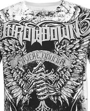 Throwdown SAVIOR T-Shirt L NWT NEW White Affliction Skull