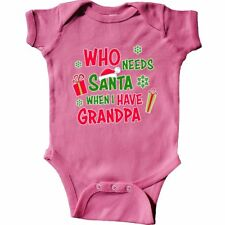 Inktastic Who Needs Santa When I Have Grandpa Infant Creeper Christmas Kids Hat