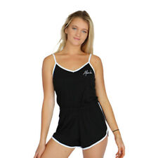 New Women's Afends Tennis Playsuit Sleeveless Black
