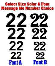 Race Car Numbers Set Vinyl Decals (2x) - Stock - Rally Car - Select Size & Color