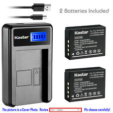 Kastar Battery LCD USB Charger for Fuji NP-W126 NP-W126s & Fujifilm X-T20 Camera