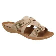 Andrea Conti Ladies Summer Boots Sandal Clogs Leisure Mules Taupe Leather