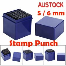 Letter & Number 36pc Stamp Punch Set Steel Metal Leather Craft Tool RL