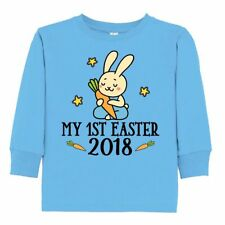 Inktastic 1st Easter 2018 Boys Bunny Rabbit Toddler Long Sleeve T-Shirt Holiday