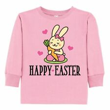 Inktastic Easter Bunny Girls Toddler Long Sleeve T-Shirt Happy Rabbit Childs 1st