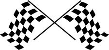 Decal - Racing Flags  - Vinyl Decal for Car/Truck Window