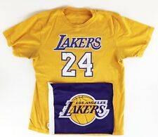 KOBE BRYANT 24 LOS ANGELES LAKERS Shersey T-SHIRT XL with Car Flag