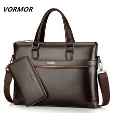 Bag Laptop Business Handbag Set Briefcase Leather Men Shoulder Messenger Fashion