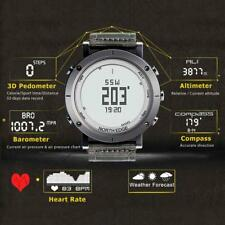 Men's Sports Watch Heart Rate Monitor Weather Altimeter Barometer Compass Q5P6