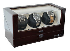 Pangaea T330 Triple Watch Winder Dual Power Battery or AC Powered Lock and Key
