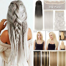 Real Thick As Human Half Full Head Clip in Hair Extension Straight Wavy Ombre US