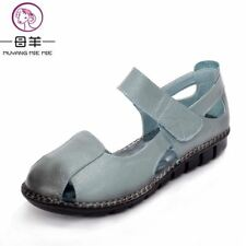 Summer Women Shoes Genuine Leather Soft Outsole Flat Shoes Woman Flat Sandals 20