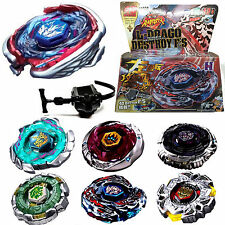 4D Fusion Top Metal Master Rapidity Fight Rare Beyblade Launcher Grip Sets Toy S