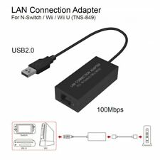 USB Ethernet LAN Adapter Cable Internet Network For Nintendo Switch/ Wii / Wii Q