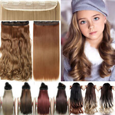 US One Piece Full Head Clip in Thick as Human Hair Extension Wavy Straight Thick