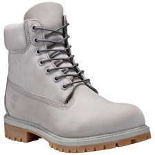 """Timberland Icon 6-Inch 6"""" Premium Boot Men's Shoes -Grey TB0A1GAU093 Waterproof"""