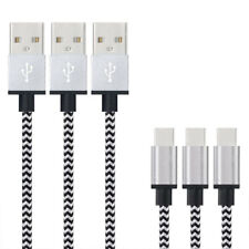 1M Type-C USB Fast Charger Charging Data Sync Nylon Braided Cable Lead Wire