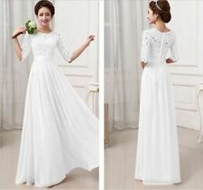 White Color Party Wear Half Sleeve Chiffon Pleated Maxi Dress for Women