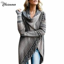 2018 Ladies Irregular Knitted Top tassel Sweater Cardigan Sueter Mujer Fashion W