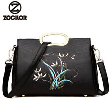 Women handbag Messenger Bags Luxury embroidery flower Women Bags Designer PU Usa
