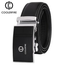 COOLERFIRE Newest fashion mens belt top cow genuine leather automatic buckle Usa