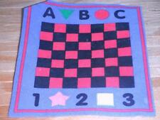 Fisher Price Loving Family Dollhouse Play Room Checkers Game Room Rug Carpet Toy