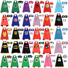 Superhero Cape (1 cape+1 mask) Best for kids birthday party favors and ideas