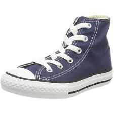 Converse Chuck Taylor All Star Hi Navy Textile Junior Trainers