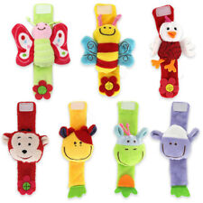 Various Style Soft Toy Animal Baby Infant Kids Hand Wrist Bells Foot Sock Rattle