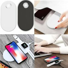 Qi Wireless Charging Pad Dock + USB Charger Cable for i-Watch & Iphone & Samsung