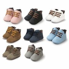 2017 Baby Shoes First Walkers Lace-up Shoes Infant Toddler Soft Soled Boots QW
