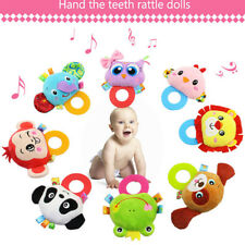 Cute Rattles Toy Hand Bell Toddler Infant Rings Interactive Animal Plush Toys