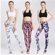 Womens Fitness Yoga Pants Floral Printed Leggings Running Sports Stretch Jogging