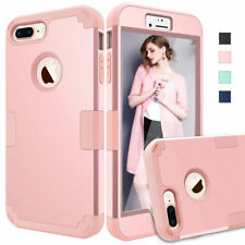 For iPhone 7 8 Plus X Hybrid Heavy Duty Shockproof Full-Body Protective Case New