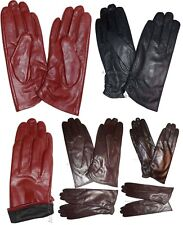 New Ladies dress Leather Gloves Winter Gloves Lined Leather Gloves Guantes BNWT