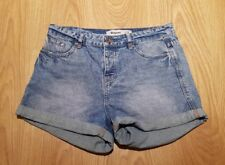 New Look Mom Jeans High Waist Denim Shorts Size UK 12