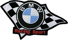 PATCH BMW RACING SPORT EMBROIDERY THERMOADHESIVE EMBROIDERED 13 x 8 cm