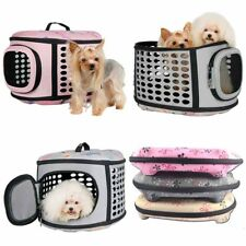 Foldable Cage Kennel Pet Dog Cat Portable Tote Sided Carrier Bag Travel Comfy