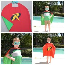 Robin Kids Birthday Party Favors, Superhero Mask, Cape can Personalize Name