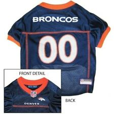 Denver Broncos Licensed NFL Pets First Dog Pet Mesh Jersey, Blue NWT