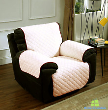Recliner Chair Cover Slipcover Reversible Elastic Straps Sofa Loveseat Protector
