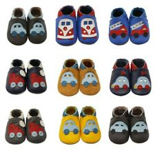 Sayoyo Unisex Baby Shoes Soft Leather Slippers Design Car Moccasins 0-24 Months