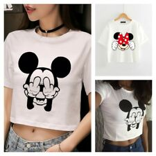 MICKEY MINNIE MOUSE Disney Crop Tank Top T SHIRT Tee CROPPED Cute PLUS SIZE